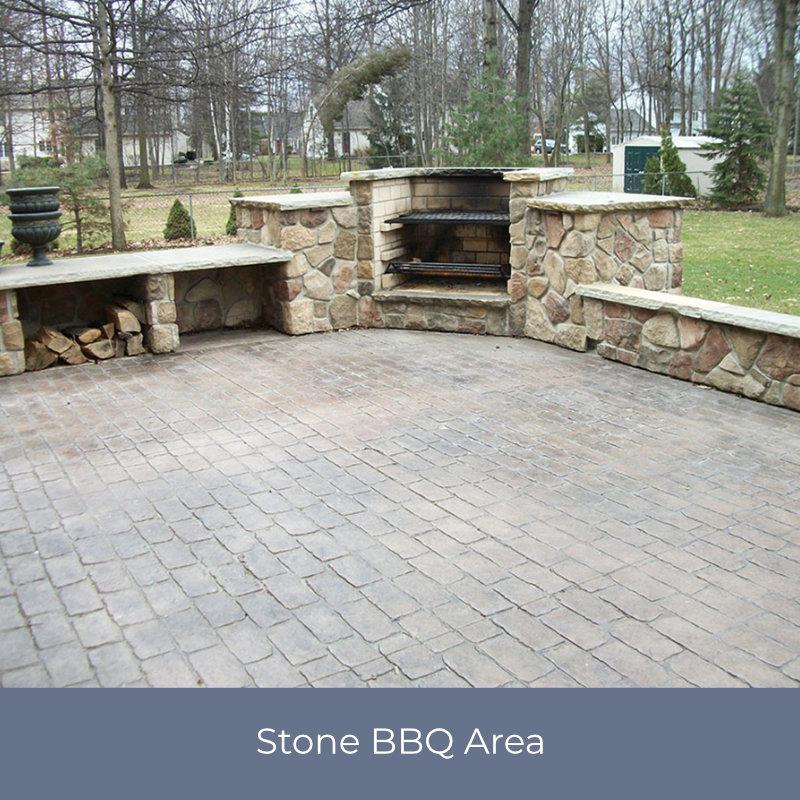 Stone BBQ Area